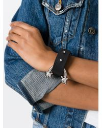 DSquared² - Black Pierce Me Cuff Bracelet - Lyst