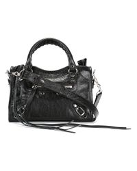 Balenciaga - Black - Mini 'classic City' Crossbody Bag - Women - Lamb Skin - One Size - Lyst