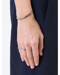 Henson - Metallic Linked Carved Rings - Lyst