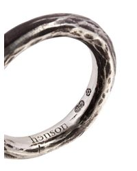 Henson - Metallic Carved Stacker Ring - Lyst
