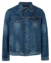 DIESEL | Blue Stonewashed Denim Jacket for Men | Lyst