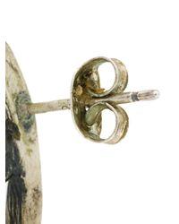 Jean Paul Gaultier - Metallic Rose Earrings - Lyst