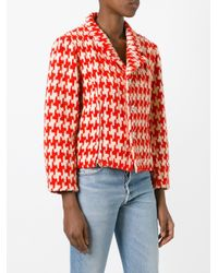 Comme des Garçons - Red Geometric Woven Jacket - Lyst