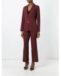 Jean Paul Gaultier Purple Pinstriped Suit