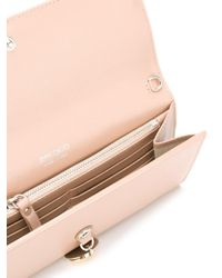 Jimmy Choo - Pink - Mandie Wallet Crossbody Bag - Women - Calf Leather - One Size - Lyst