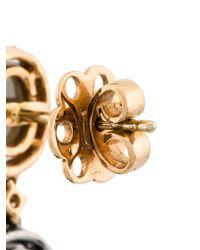 Saqqara | Metallic Diamond Earrings | Lyst