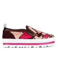 MSGM | Multicolor Printed Velvet Sneakers | Lyst