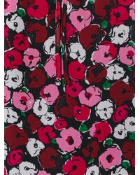 Saint Laurent | Red Anemone Print Gypsy Blouse | Lyst