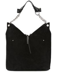 Jimmy Choo   Black - Raven Shoulder Bag - Women - Calf Leather/calf Suede - One Size   Lyst