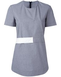 Cedric Charlier - Blue Band Detail T-shirt - Lyst