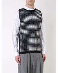 Wooyoungmi - Black Checked Pattern Pullover for Men - Lyst