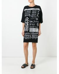 KENZO - Black Flyer T-shirt Dress - Lyst