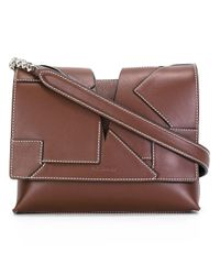 Jil Sander | Brown Stitched Panel Cross-body Bag | Lyst