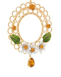 Dolce & Gabbana | Metallic Floral Cage Long Necklace | Lyst