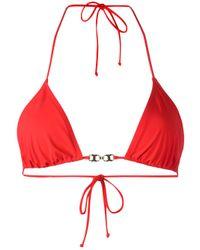 Tory Burch | Red Gold-tone Detail Bikini Top | Lyst