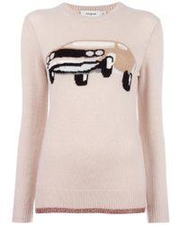 COACH | Pink Car Intarsia Sweater | Lyst