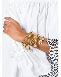 Dolce & Gabbana - Metallic Multiple Angle Charm Cuff - Lyst