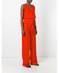 Maison Margiela | Red Wrap-style Sleeveless Jumpsuit | Lyst