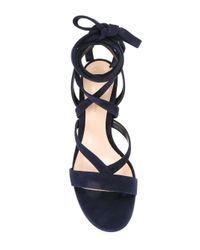 Gianvito Rossi | Blue Lace-up Sandals | Lyst