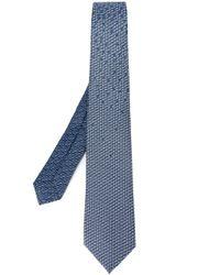 BVLGARI | Blue Sailboat Print Tie for Men | Lyst