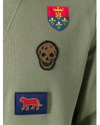 Alexander McQueen - Green Badge Applique Sweatshirt for Men - Lyst