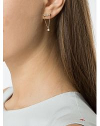 Azlee | Metallic White Light Chair Earrings | Lyst