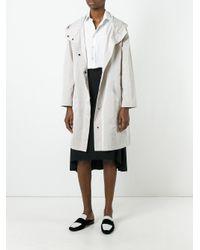 Jil Sander - Multicolor Hooded Raincoat - Lyst