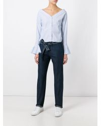 Vanessa Bruno Athé | Blue Straight Trousers | Lyst