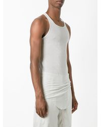 Rick Owens - Multicolor Curved Hem Tank Top for Men - Lyst