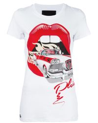 Philipp Plein | White Mouth T-shirt | Lyst