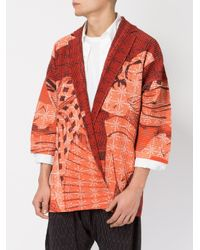 Homme Plissé Issey Miyake - Red Geisha Print Open Jacket for Men - Lyst