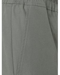 Rick Owens - Gray Drop-crotch Cropped Trousers for Men - Lyst