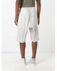 Rick Owens - Gray Drop-crotch Shorts for Men - Lyst