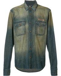 PRPS | Blue Washed Denim Shirt for Men | Lyst