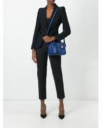 Alexander McQueen - Blue Mini Padlock Crossbody Bag - Lyst