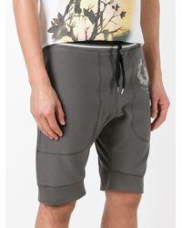 Alexander McQueen | Gray Skull Crest Shorts for Men | Lyst