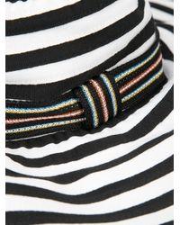 Missoni - Black Stripe Wide Brim Sun Hat - Lyst
