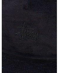 Stussy | Black Velveteen Snapback Cap for Men | Lyst