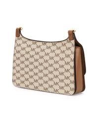 MICHAEL Michael Kors   Brown Logo Print Shoulder Bag   Lyst