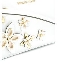 MICHAEL Michael Kors - White Flower Shoulder Bag - Lyst