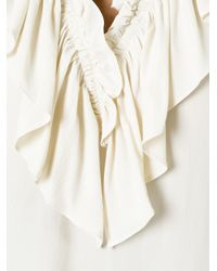 Marni - White Ruffle Neck Top - Lyst