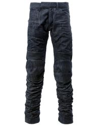 G-Star RAW - Blue Stitched Panel Jeans for Men - Lyst