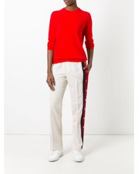 Maison Margiela - Red Elbow Patch Jumper - Lyst