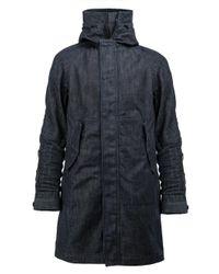 G-Star RAW | Blue Funnel Neck Coat for Men | Lyst