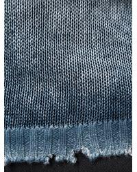 Avant Toi - Blue Distressed V-neck Jumper for Men - Lyst