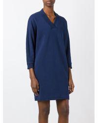 KENZO - Blue Paris Print Dress - Lyst