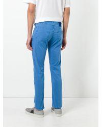 Jacob Cohen - Blue Slim-fit Trousers for Men - Lyst
