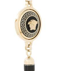 Versace - Metallic Greca And Medusa Tassel Necklace - Lyst