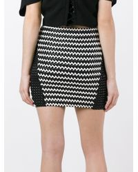 Zoe Karssen - Black Braided Mini Skirt - Lyst