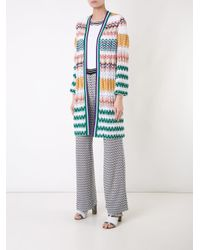 Missoni - White Zig-zag Pattern Open Cardigan - Lyst
